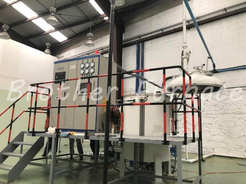Vacuum Induction Melting Furnace on site