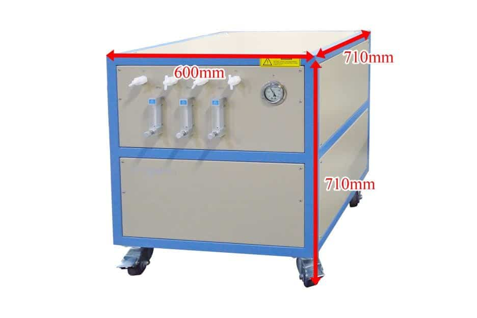 cvd furnace gas mixing